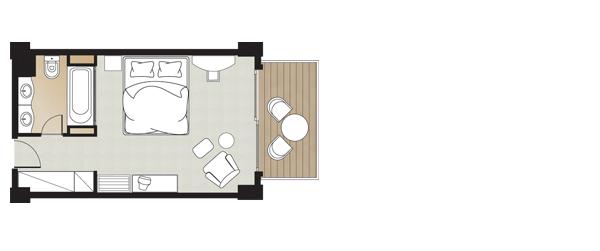 Ddouble guestroom, floorplan