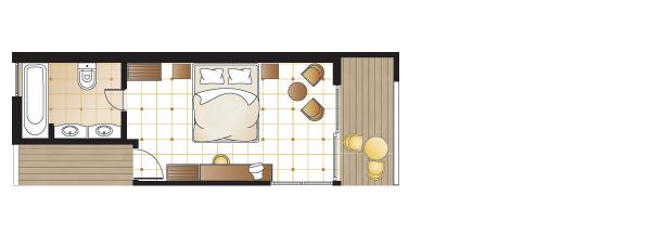 Superior bungalow, floorplan