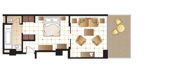 Deluxe Suite, floorplan