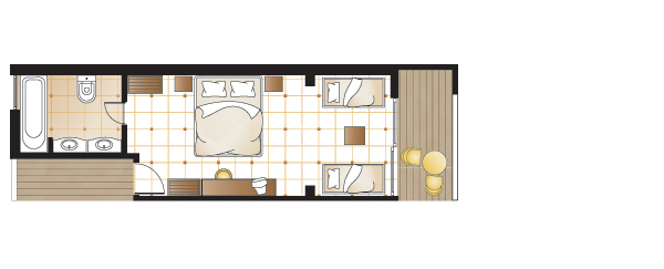 Junior bungalow suite, floorplan