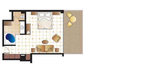 Junior Suite, floorplan