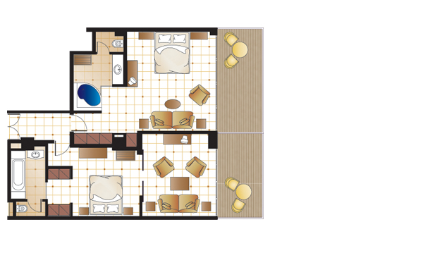 Palace Suite, floorplan