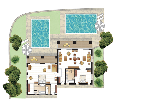 Palazzina Villa, floorplan