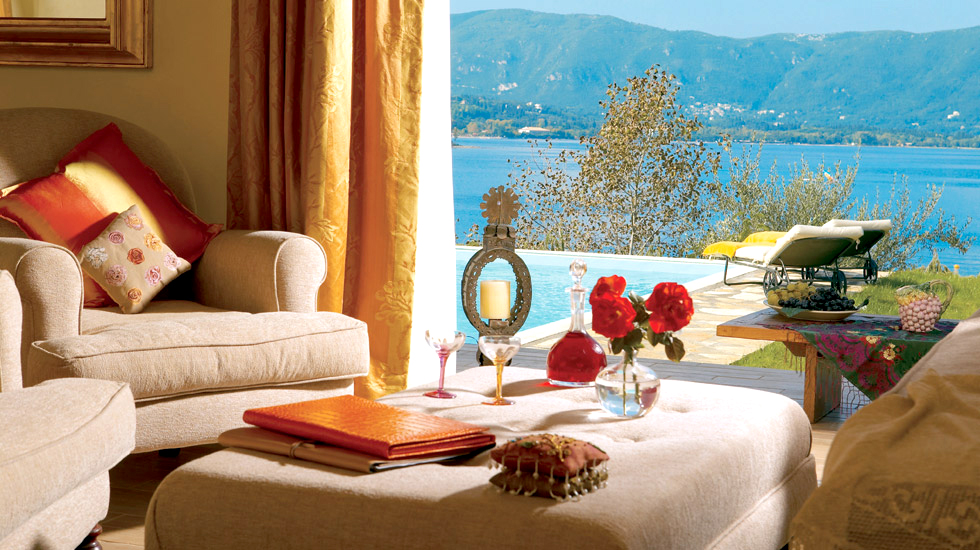 Romantic villa with private pool grecotel eva palace corfu for Exclusive luxury accommodation