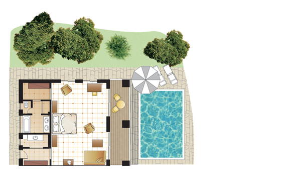 Romantic Villa, floorplan