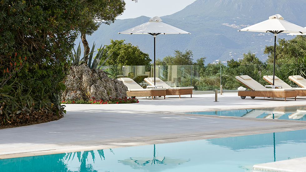 relaxed holidays luxury vacation at eva palace luxury resort in corfu