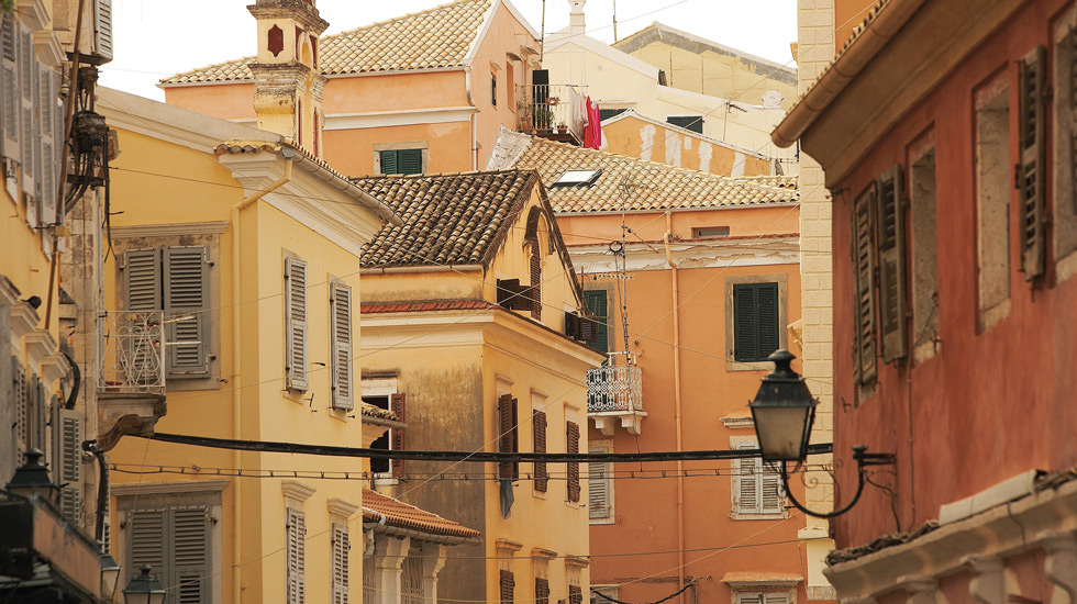traditional city of Corfu