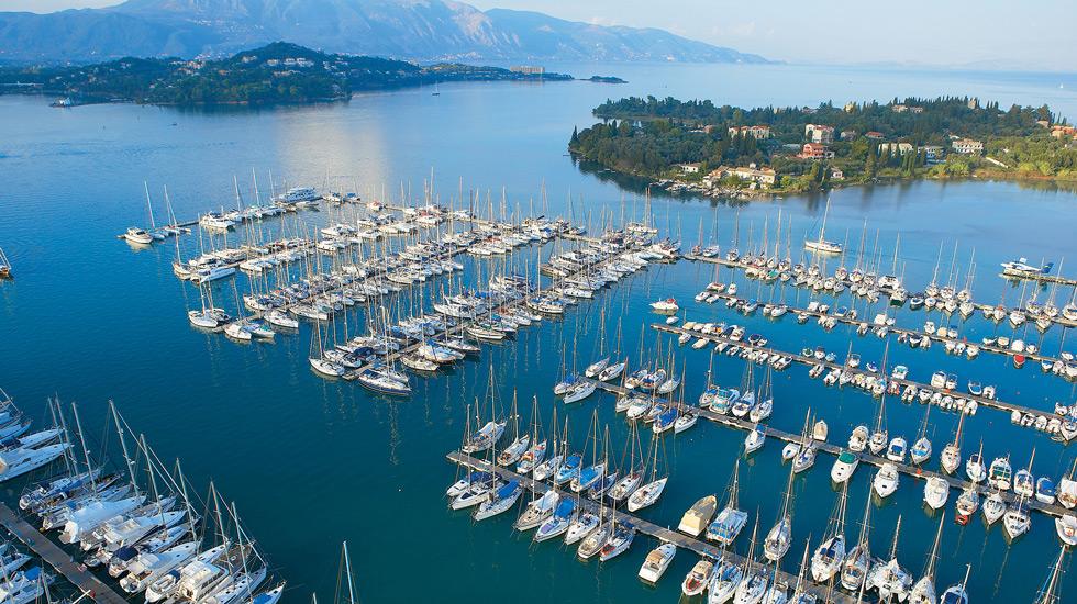 Marina in Corfu Island