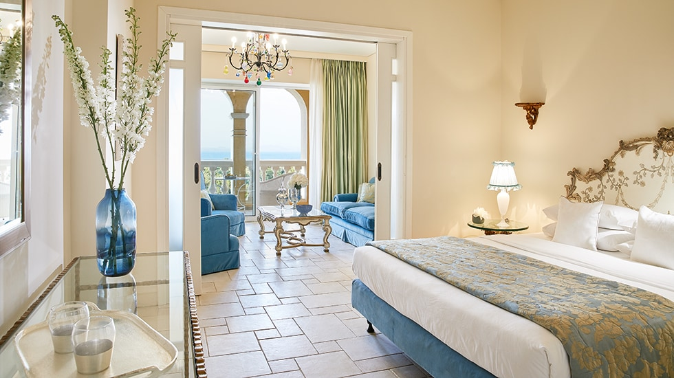 palace suite in eva palace corfu island luxury resort