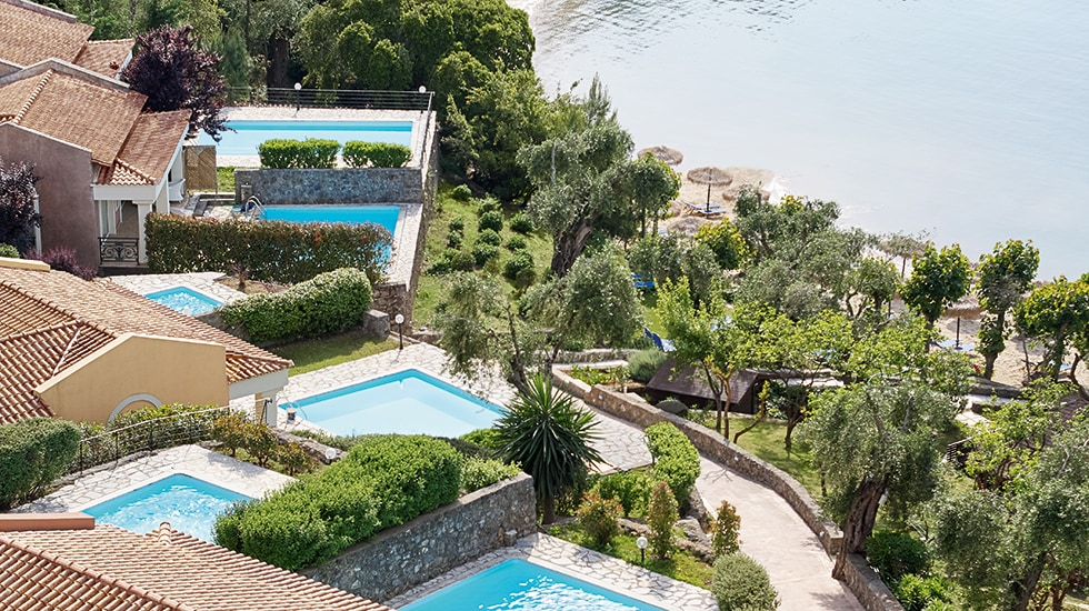 Waterfront accommodation at corfu Eva palace Luxury resort